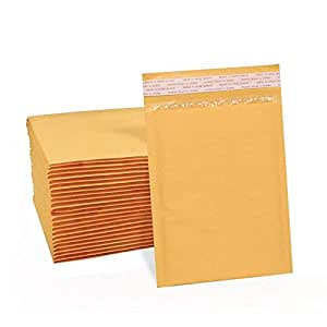 UCGOU 4x8 Inch Kraft Bubble Mailers Gold Self Seal Padded Envelopes Pack of  50