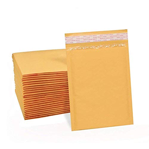 UCGOU 4x8 Inch Kraft Bubble Mailers Gold Self Seal Padded Envelopes Pack of 50 ()