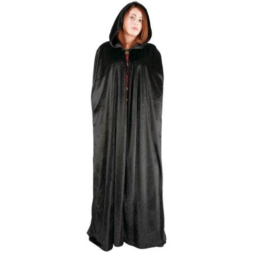 Adult Long Hooded Cape Color: Black