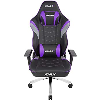 AKRacing Masters Series Max Gaming Chair with Wide Flat Seat, 400 Lbs Weight Limit, Rocker and Seat Height Adjustment Mechanisms with 5/10 Warranty - Indigo