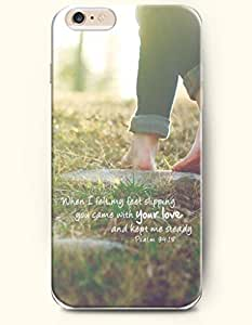 Case with the Design of When felt my feet slipping you came with your love and kept me steady psalm 94:18 Case Cover For Apple Iphone 4/4S (2014) Verizon, AT&T Sprint, T-mobile