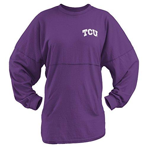 NCAA TCU Horned Frogs Junior's Coastal Sweeper Jersey, Purple, Large