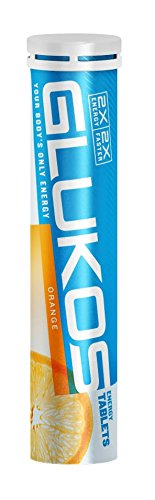 Glukos, Glucose Energy Tablets, Orange Flavor (12 pack, 14 Tablets, each)
