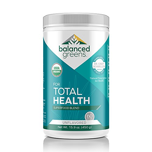 Total Health Organic Greens Powder Superfood by balanced greens, Boost Immunity, Digestion, Alkalize, Detox, Gluten Free Raw Vitamins & Minerals from Dr. Formula Probiotics, Unflavored-60 servings