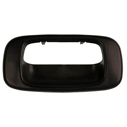 Fits 99-07 Silverado Sierra Tail Gate Handle Bezel Cover Textured Black (Plastic Tailgate)