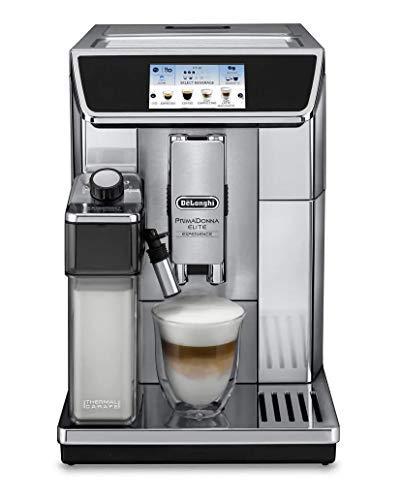 Espresso Machine Commercial Tank (Delonghi super-automatic espresso coffee machine with double boiler, milk frother, chocolate maker for brewing espresso, cappuccino, latte, macchiato & hot chocolate. ECAM65085MS PrimaDonna Elite)