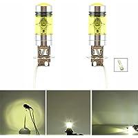 2x H3 LED Fog Light Bulb 100W High Power 2323 SMD Gold Yellow LED Bulbs Projector Fog Driving DRL Light Lamps