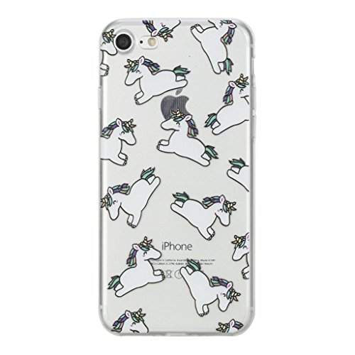 """iPhone 7 Hülle, IJIA Ultradünne Transparente Vollbild Kleine Zebra TPU Weich Silikon Stoßkasten Handyhülle Schutzhülle Handyhüllen Schale Case Tasche für Apple iPhone 7 (4.7"""") + 24K Gold Aufkleber"""