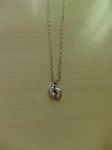 l'atteggiamento migliore 05661 dfdfe regalo di san valentino collana piedini argento nascita ...