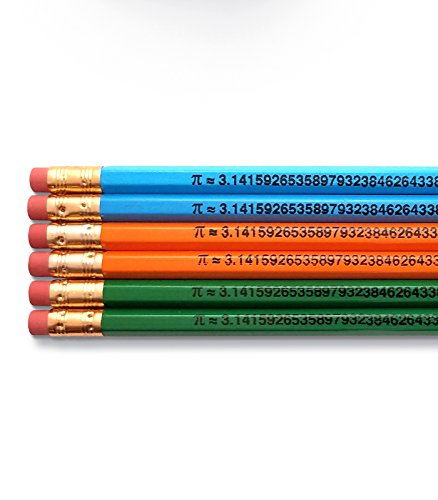 (The Number Pi to 49 Places, Math Inspirational Pencils )