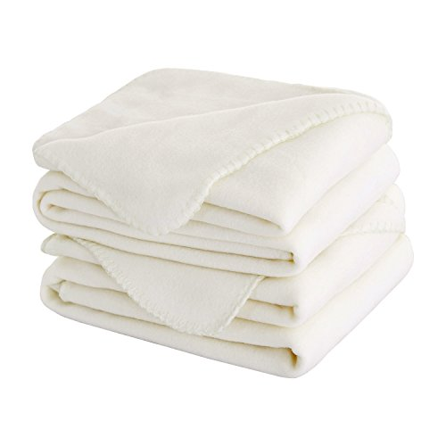 Deconovo Thermal Soft Brush Microfiber Fleece Blanket Super