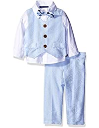 Boys' 4 Pc Vested Pant Set