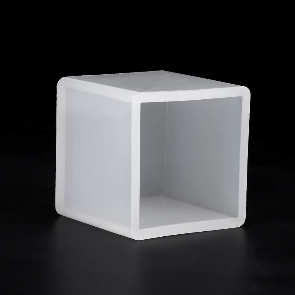 4 pezzi stampo in silicone resina stampi in silicone stampi quadrati cubo resina antiaderente trasparente per fai da te resina epossidica ornamenti di cristallo artigianato