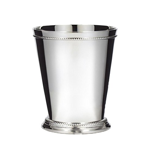 (Klikel Mint Julep Cup - Moscow Mule - Kentucky Derby - Classic Beaded Trim Border -stainless Steel 12oz Set Of)