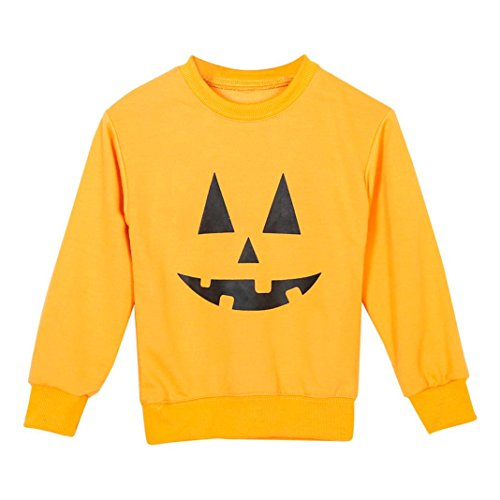 Franterd Franterd Halloween Family Outfit Clothes, Mom&Me Parent-Child Matching Sweatshirt Tops (Yellow, Baby 1T) (Matching Halloween Costumes For Parents And Baby)