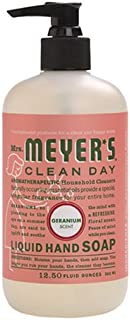 product image for Mrs. Meyer's Clean Day Liquid Hand Soap, Geranium, 12.5 Ounce Bottle