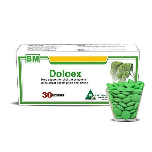 Natural Pain Relief Tablets by DOLOEX Effective for Migraines, Headaches, Back Pain, Toothaches and Menstrual Pain (Best Treatment For Menstrual Migraines)