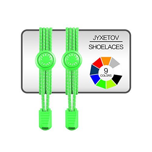 - JYXETOV Elastic No Tie Shoelaces with Bonus (9 Colors, 1 Pair, 2 Pairs or 3 Pairs to Choose) for Adults, Kids, Seniors, Casual Shoes, Sneaker, Boots