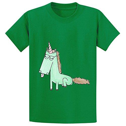 chas-mintunicorn-girls-crew-neck-print-t-shirts-green