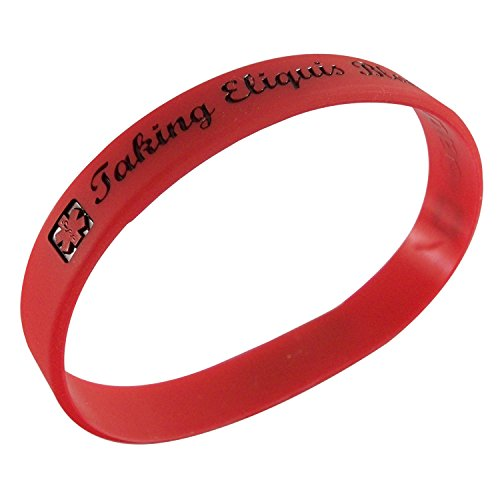 2 Taking Eliquis Blood Thinner Medical Id Alert Silicone Bracelets