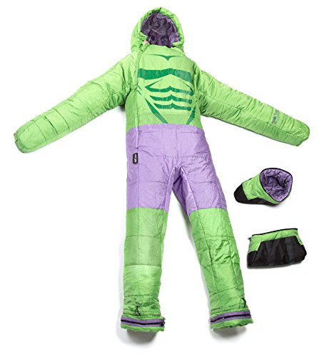 Selk'bag Incredible Hulk Sleeping Bag, Medium, Green