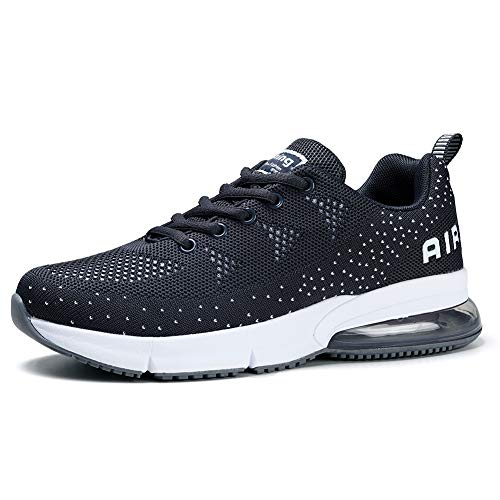 Tennis Arch - Women's Running Shoes Air Cushion Sneakers Breathable Casual Athletic Tennis Walking Dark Grey, 7.5