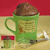 Abbey Press 129992 Mug My Cup Runneth Over-Gingerbread Man & Gingerbread Cake Mug