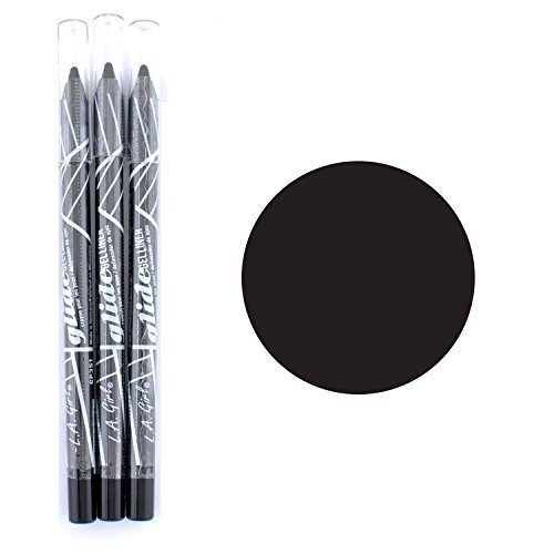 L.A. Girl Gel Glide Eyeliner Pencil 351 Very Black-3pcs