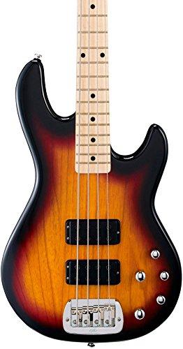 G&L Tribute M2000 4-String Electric Bass 3-Color Sunburst Maple Fretboard - Les Paul Swamp Ash Studio