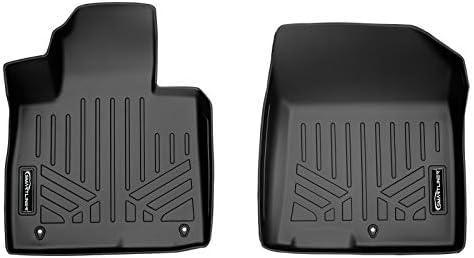 SMARTLINER Custom Fit All Weather Black 1st Row Floor Mat Liner Set Compatible With 2021-2022 Hyundai Santa Fe