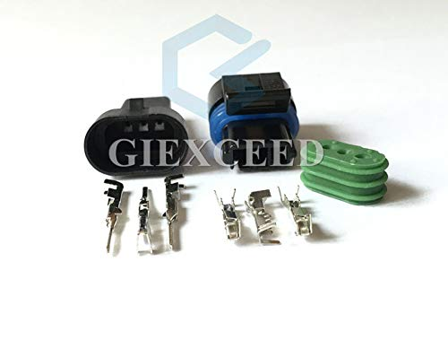 5 Sets Female Male 3 Pin 12162280 Map Sensor ND-12129946-B Connector 577 Camshaft Sensor Connector for Buick Reatta 88 89 90 91