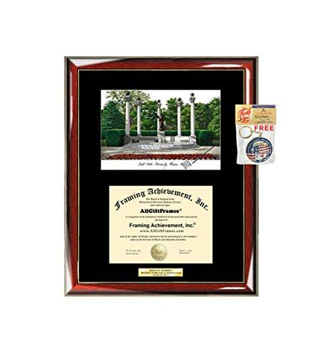 AllGiftFrames Ball State University BSU Diploma Frame Lithograph Degree Graduation Framing Black Matted Engraved Custom University Graduate Gift Holder Case