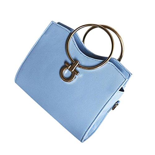 Bolso Bandolera Mujer Pequeña de Piel Bolsos de Hombro Colores para Niña por ESAILQ DC Azul