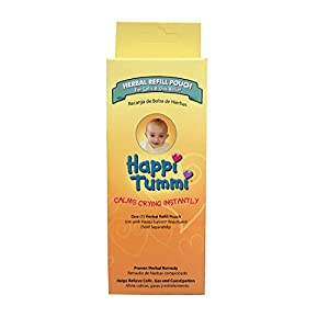 Happi Tummi Herbal Refill Pack – Relief for Infants and Babies with Colic, Gas, and Upset Tummies (1 Pack)