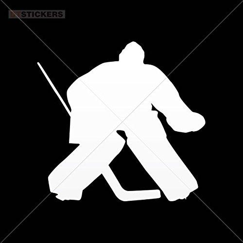 Vinyl Sticker Decals Ice Hockey Player Attack White Sports Bike (3 X 2,84 In. ) Vinyl color White