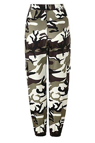 Yacun Pour Camouflage Femmes Pantalons Des Pantalon Grey Chevilles wwBTz