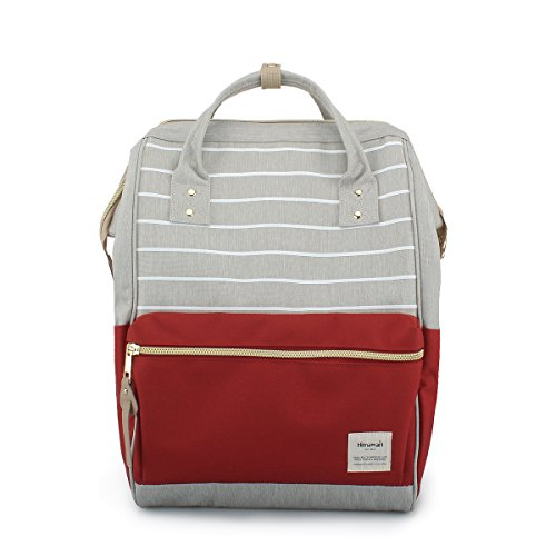 Himawari Travel Backpack Large Diaper Bag Doctor Bag Backpack School Backpack for Women&Men (Gray& Red) by Himawari