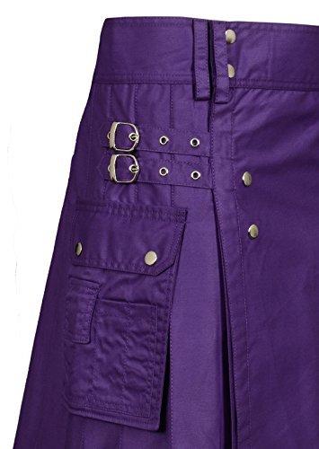 Men's Purple Utility Kilt (Belly Button Size 36)