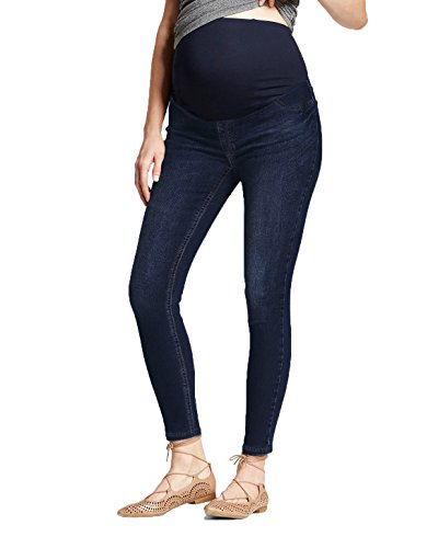 Trouser Maternity Jeans (Super Comfy Stretch Women's Skinny Maternity Jeans PM5983JP Dark WASH4 Medium)