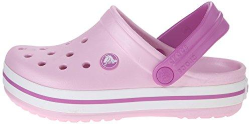 crocs Kids' Crocband Clog (Toddler/Little Kid), Ballerina Pink/Wild Orchid, 10/11 M US Little Kid by Crocs (Image #5)