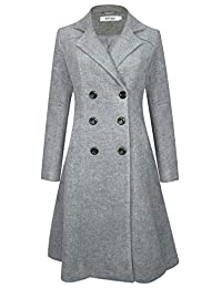 APTRO Women's Wool Coat Double-Breasted Winter Warm Jacket Slim Fit Outwear Coat