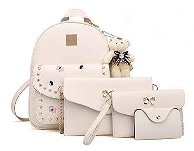 Shopee Branded 4pcs Set Waterproof Casual Backpack Handbag Sling Bag
