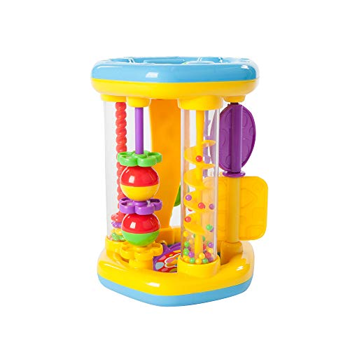 Fat Flowers - Fat Brain Toys Rattle 'n Roll Flower Tower Baby Toys & Gifts for Ages 1 to 2