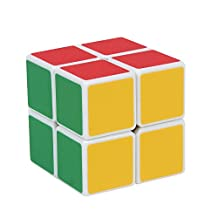 Magic Cube 2x2 White Shengshou Stickerless Smooth Speed Cube Puzzle