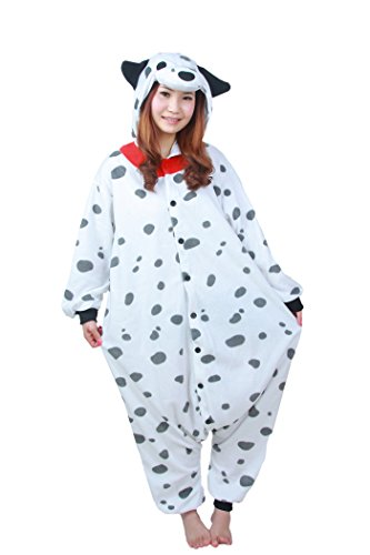 WOTOGOLD Animal Cosplay Costume Dog Unisex Adult Pajamas, Dalmatians, Small