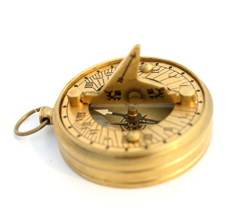 Shiny compass sundial mini pocket marine instrument collectibles buy - Mini Sundial