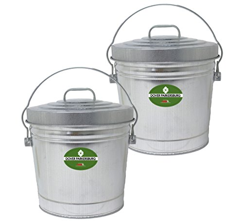 Dover Parkersburg DP6106-2 Steel Can, 6 gallon, Silver, (2-Pack)