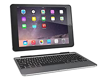 ZAGG Slim Book Ultrathin Case, Hinged with Detachable Backlit Keyboard for iPad Air 2