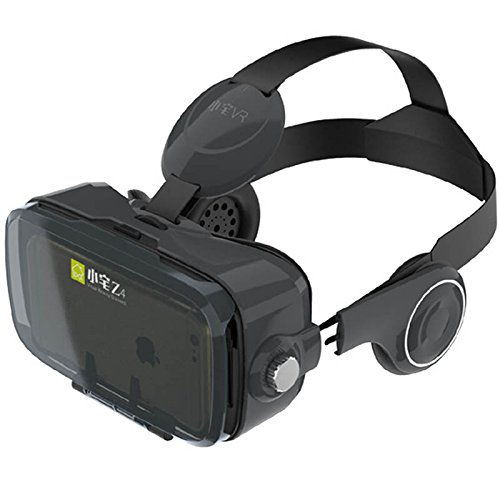 """Immersive Virtual Reality Headset, VR 3D Glasses, Xiaozhai z4 Movie Games VR Goggles, for 4.7-6.2"""" Smartphones, HorzQueen (BLK Z4)"""