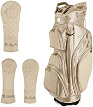iBella Ladies Golf Cart Bag (with 3 Matching Headcovers)